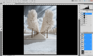 Tutoriel photographie infrarouge - Accentuation du contraste par masques
