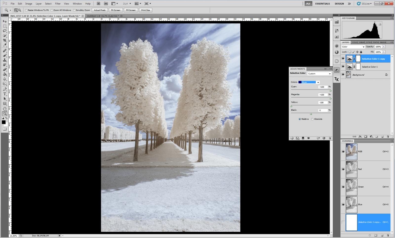 IR tuto 4 | Pierre-Louis Ferrer Photographie | Photographie infrarouge