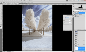 Tutoriel photographie infrarouge - Saturation du ciel