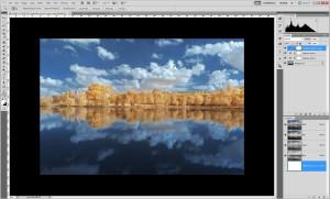 Tutoriel de traitement d'une photographie en infrarouge couleur, par Pierre-Louis Ferrer - étape 12