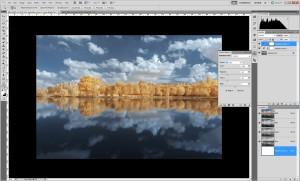 Tutoriel de traitement d'une photographie en infrarouge couleur, par Pierre-Louis Ferrer - étape 11