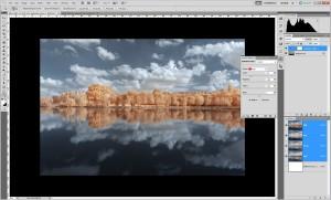 Tutoriel de traitement d'une photographie en infrarouge couleur, par Pierre-Louis Ferrer - étape 8