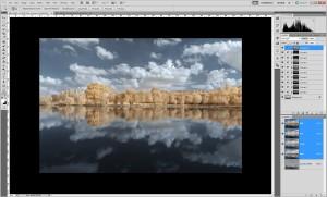 Tutoriel de traitement d'une photographie en infrarouge couleur, par Pierre-Louis Ferrer - étape 7