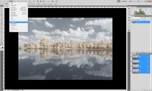 Tutoriel de traitement d'une photographie en infrarouge couleur, par Pierre-Louis Ferrer - étape 3
