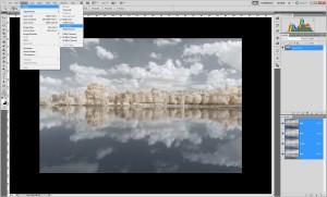Tutoriel de traitement d'une photographie en infrarouge couleur, par Pierre-Louis Ferrer - étape 4