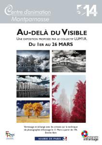 Affiche d'exposition photo en infrarouge du collectif LUM'I.R