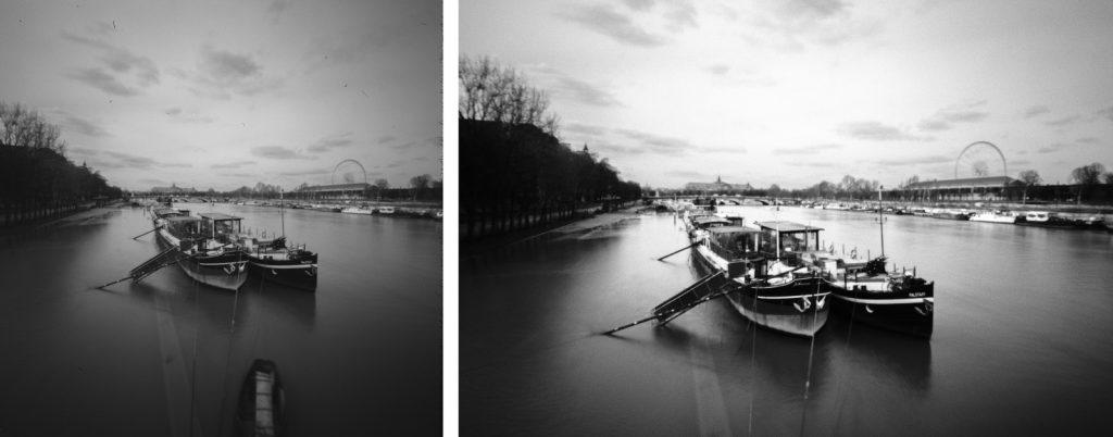 Comparatif d'un scan de pellicule argentique réalisé par Nation Photo.
