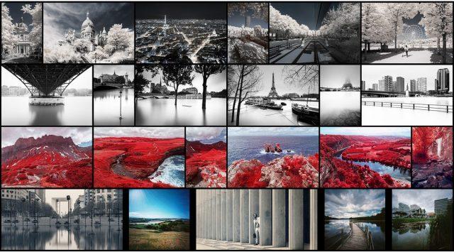 Bannière d'accueil du site Internet du photographe Pierre-Louis Ferrer, présentant ses portfolios, son blog sur la photographie et ses prestations.
