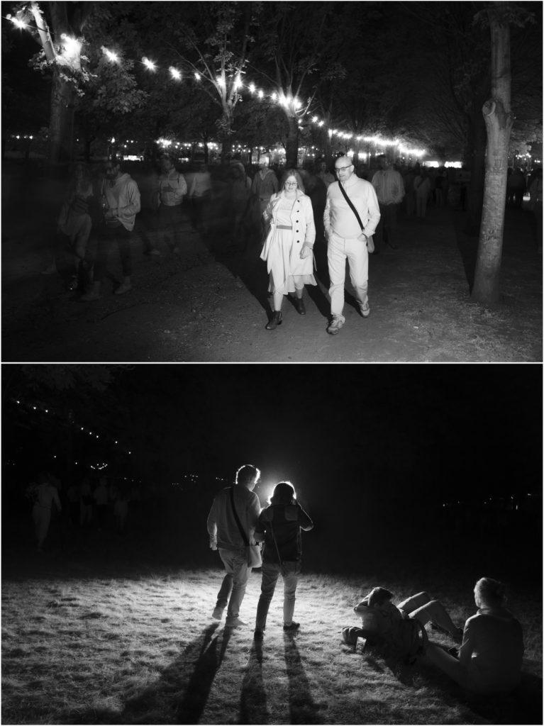 Photographie du festival rock en seine 2018 réalisée à l'aide d'un flash infrarouge par le photographe Pierre-Louis Ferrer.