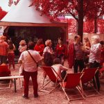 Festival Rock en Seine photographié en infrarouge par le photographie français Pierre-Louis Ferrer.