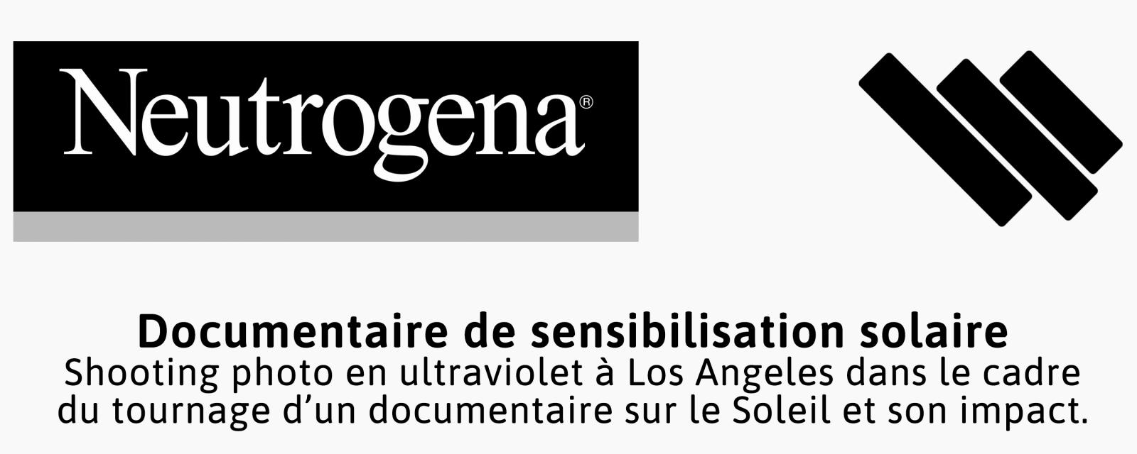 Prestation photographique réalisée par le photographe Pierre-Louis Ferrer, spécialiste en photographie dans l'ultraviolet et l'infrarouge, pour le compte de Neutrogena et Whitelist