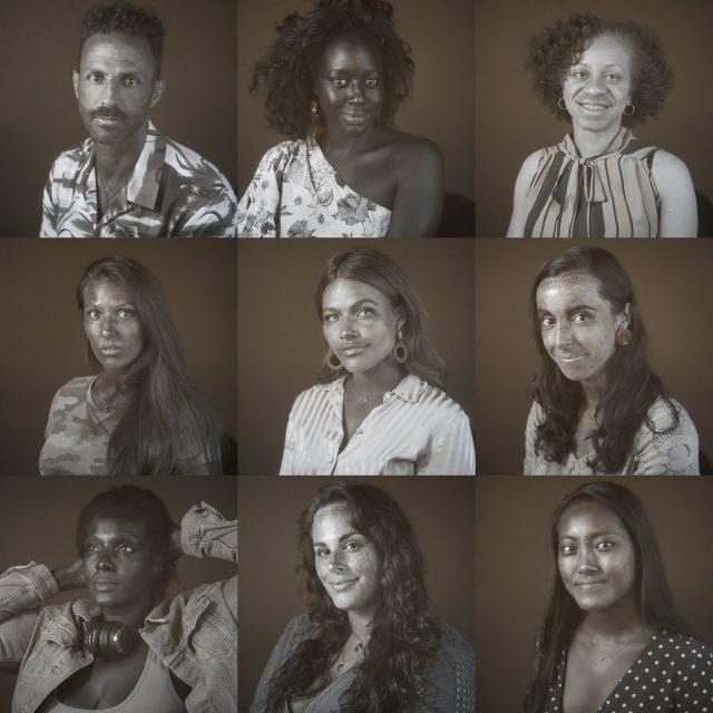 Portrait en ultraviolet réalisé durant l'événement #saveyourskin de Walgreens à New York. Photographie en ultraviolet réalisée par le photographe Pierre-Louis Ferrer, spécialiste en photographie dans l'ultraviolet et l'infrarouge.