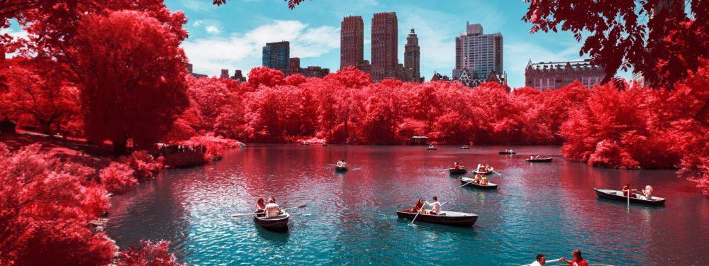 Vue de New York au Canon RP modifié pour la photographie infrarougen, par Pierre-Louis Ferrer.