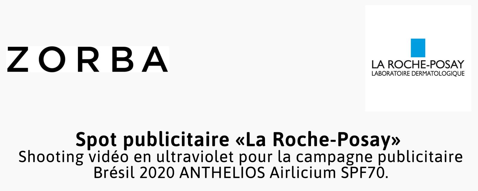 Prestation photographique réalisée par le photographe Pierre-Louis Ferrer, spécialiste en photographie dans l'ultraviolet et l'infrarouge, pour le compte de Zorba et La Roche-Posay.